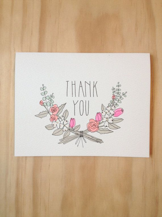 Thank you Florals by HartlandBrooklyn on Etsy
