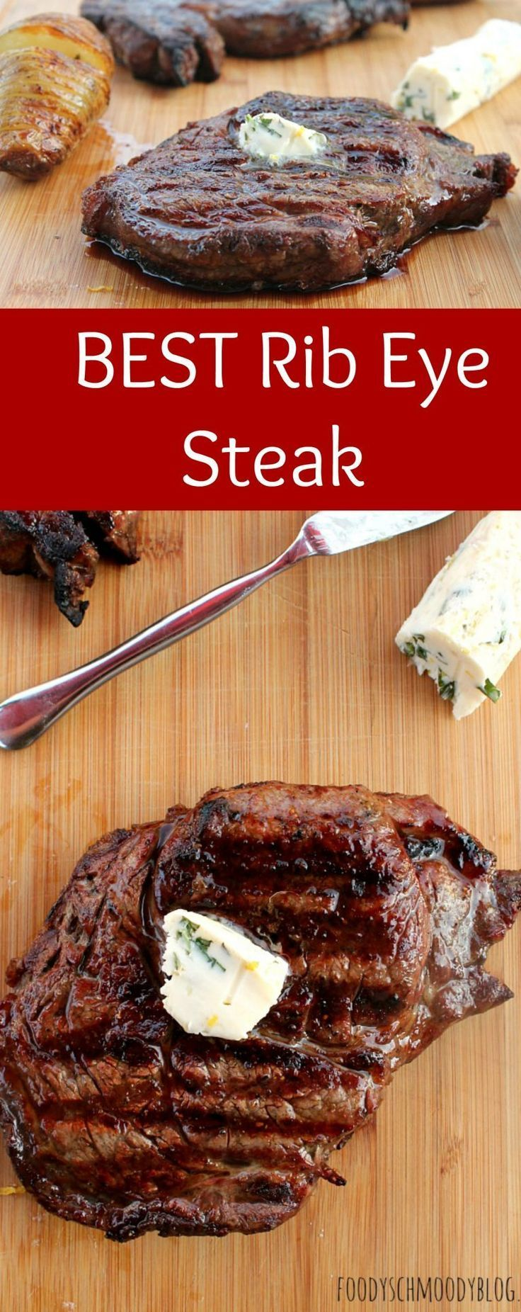 BEST Rib eye Steak recipe. It's tender and juicy and full of flavor! Just a few easy ingredients and a grill is all you need for this one and only needed Rib Eye Steak Recipe!