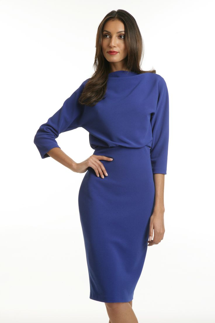 Badgley Mischka Dolman Sleeve Blouson Day dress
