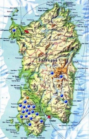 Mappa delle miniere