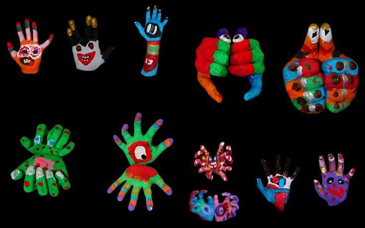 25 unieke idee n over vingerafdruk kunst op pinterest kinderkunst kinderkunstprojecten en - Monster verf ...