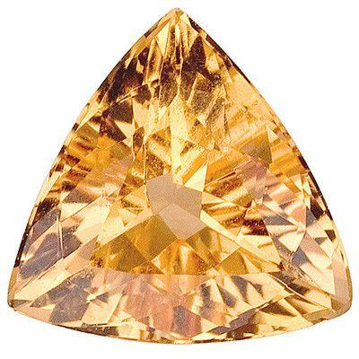Genuine Golden Topaz Loose Gemstone, Cushion Cut, 9.2 mm, 2.42 Carats at BitCoin Gems
