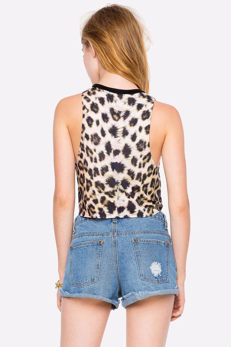 Леопардовый топ Размеры: S, M, L Цвет: коричневый с принтом Цена: 407 руб.     #одежда #женщинам #топы #коопт