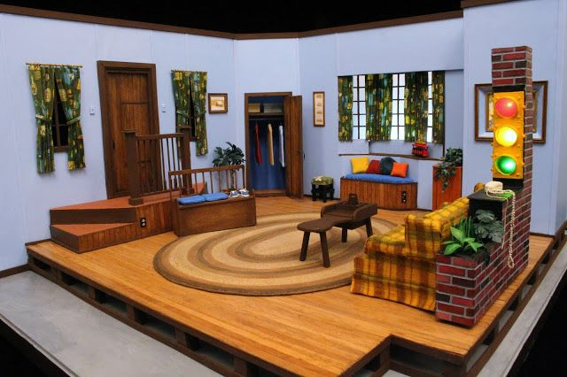 Mister Rogers Neighborhood Television House Miniature Mister Rogers Neighborhood Mr Rogers Rogers