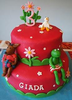 kikker taart...zou ik zelf wel voor mijn verjaardag willen!