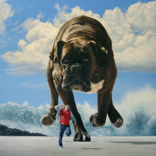 Envision this as punishment to animal abusers!  Joel Rea #art via Escape Into Life