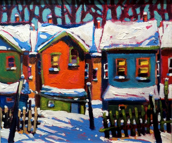 Canadian impressionist landscape painter. Acrylic Painting with three colours plus white and only one brush. andrewhamiltonfineart.com