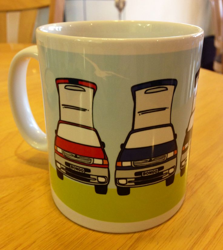 Lead Arts design Mazda Bongo mugs - for sale. £6.50 available to buy at www.leadarts.com.