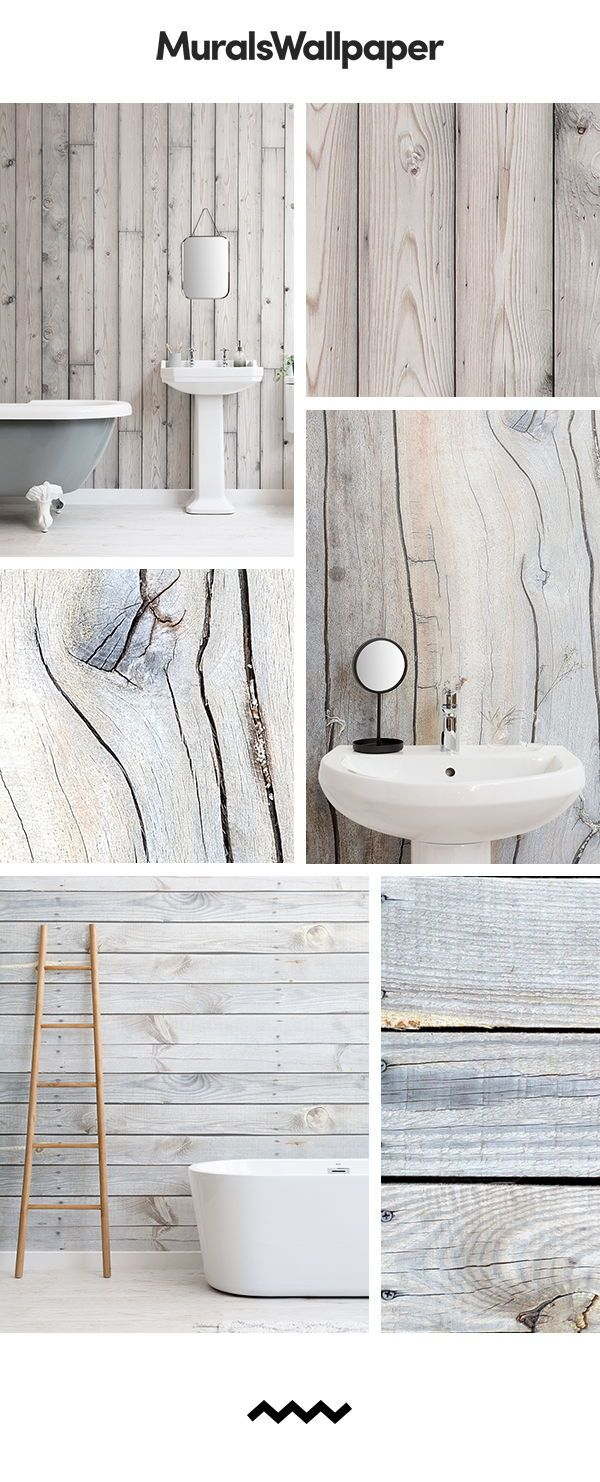 Get A Rustic Wooden Farmhouse Look In Your Home Bathroom With Warm And Rustic Wood Effect Wallpaper For A Wood Effect Wallpaper Rustic Wallpaper Bathroom Style