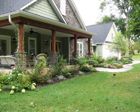 love the wood beams  stone look  the landscaping and also a reminder that i u0026 39 d like a porch swing