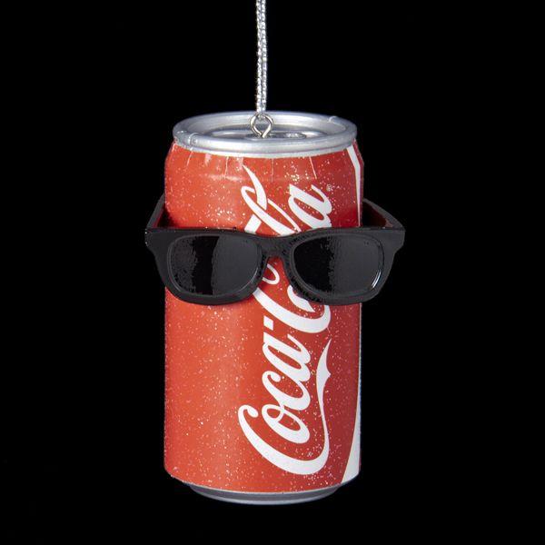 "3""COCA #COLA CAN WITH #SUNGLASSES #ORNAMENT Item # CC1141 #cocacolaornaments"