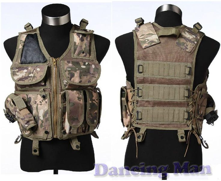 Tactical vest Utility Safety Black US navy seal modular load swat assault Military Airsoft Combat hunting police gun holster