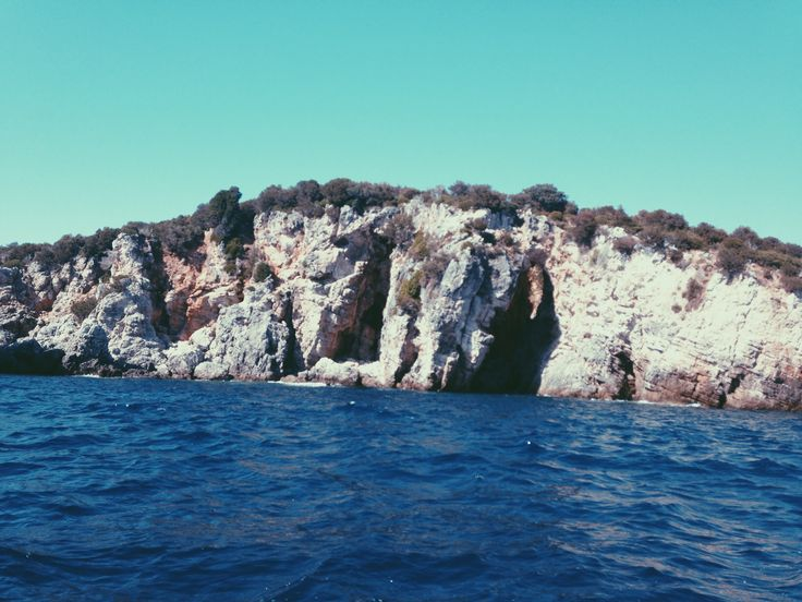 on a boat.  //Sívota, Greece