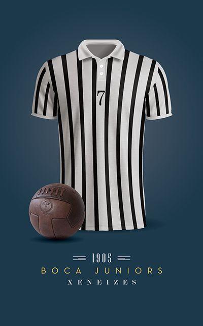 Boca Juniors - Camiseta 1905  68a39d2b69724