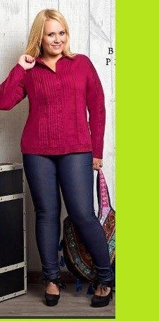 Leggings vaqueros elásticos de carisal fashion, disponibles en tallas 44 a 52. www.monanva.com