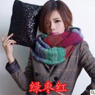 2017 осенью и зимой шарф корейских женщин вязание шерсть пуловер зимние шарфы корейских женщин длинные толстые воротники бесплатная доставка