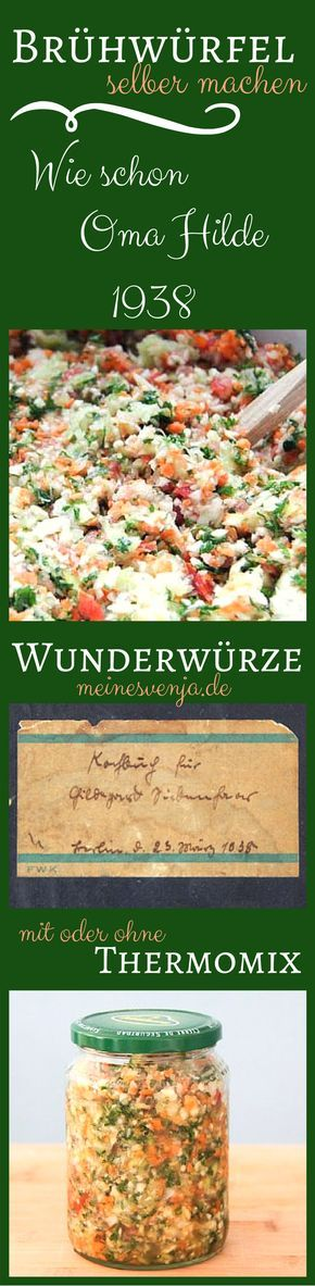 Brühe selber machen - Tod dem Brühwürfel - ganz leicht und so gesund *** Homemade vegetable soup stock