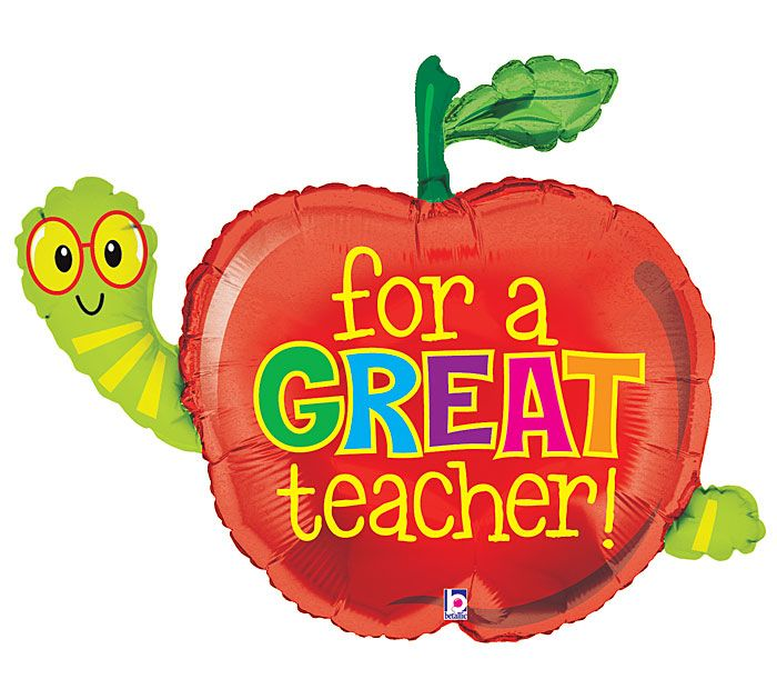 "A Back to School balloon ""for a GREAT teacher!"" #burtonandburton"