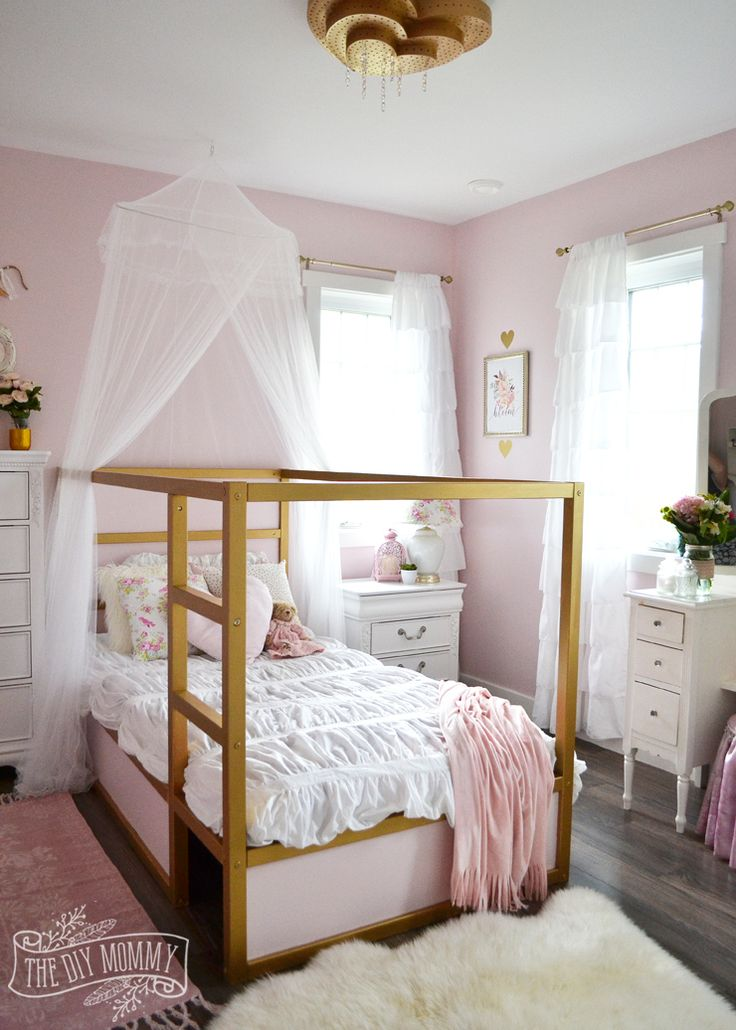 pink and gold bedroom decor a shabby chic glam bedroom design idea in blush pink 19441