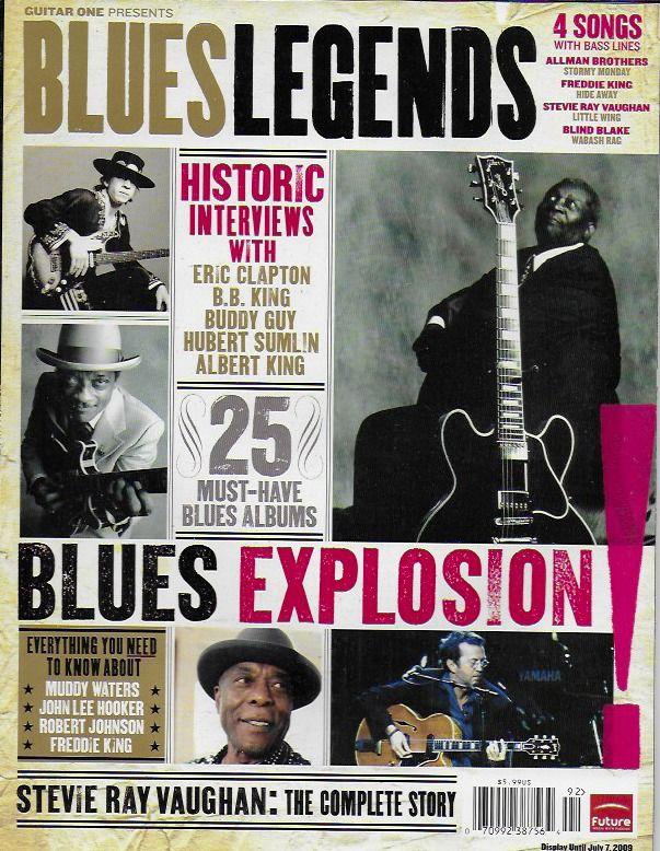 Blues Legends magazine Eric Clapton B.B. King Buddy Guy Stevie Ray Vaughan Songs