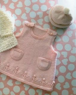 So pretty. It would almost make me wish my girl was still a baby. But of course I wouldn't have time to knit it for her, she was such a handful. All in all, it's much better she's grown out of this!