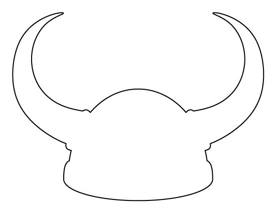Viking helmet pattern. Use the printable outline for crafts, creating stencils, scrapbooking, and more. Free PDF template to download and print at http://patternuniverse.com/download/viking-helmet-pattern/