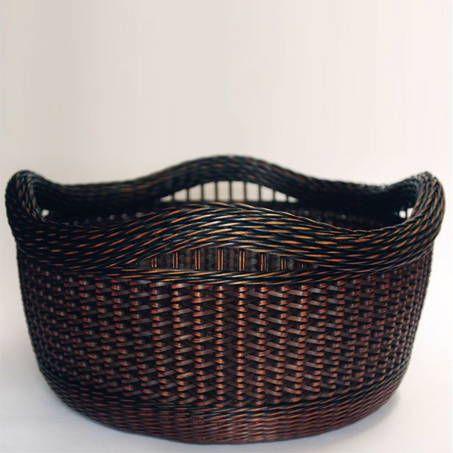 Peeta Tinay - Black and Brown Zig-Zag Weave Basket