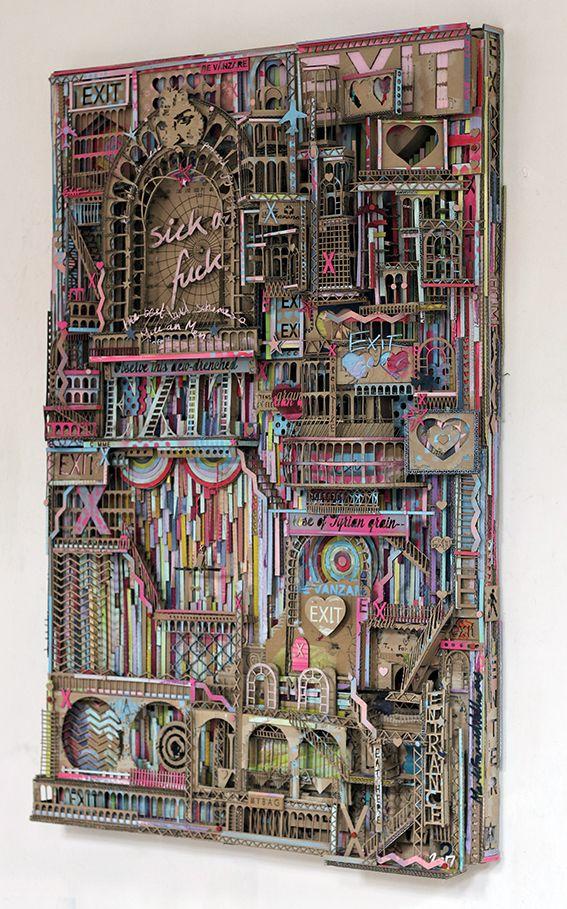 #cardboardart #cardboardsculpture #streetart #assemblage #architectureart #markfranciswilliams