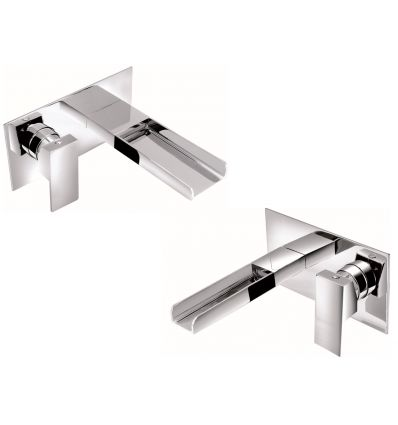 Dunk Waterfall Wall Mounted Basin Mixer and Wall Mounted Bath Filler Set Uk Manchester Liverpool Bathroom Taps Selection