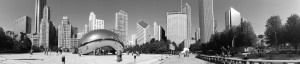 The Bean Chicago Black and White Panoramic Picture Purchase this beautiful panorama and more by visiting panoramicpanorama.com