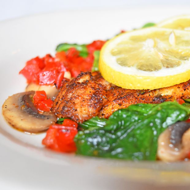Royal House Oyster Bar's Blackened Redfish recipe meets the nutrition criteria of Eat Fit NOLA.