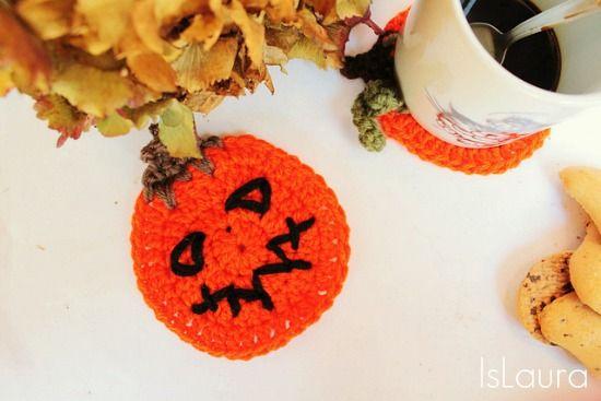 Sottotazza di Halloween a crochet