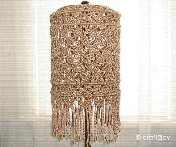 Macrame Lamp Shade for floor or table lamp by craft2joy on Etsy