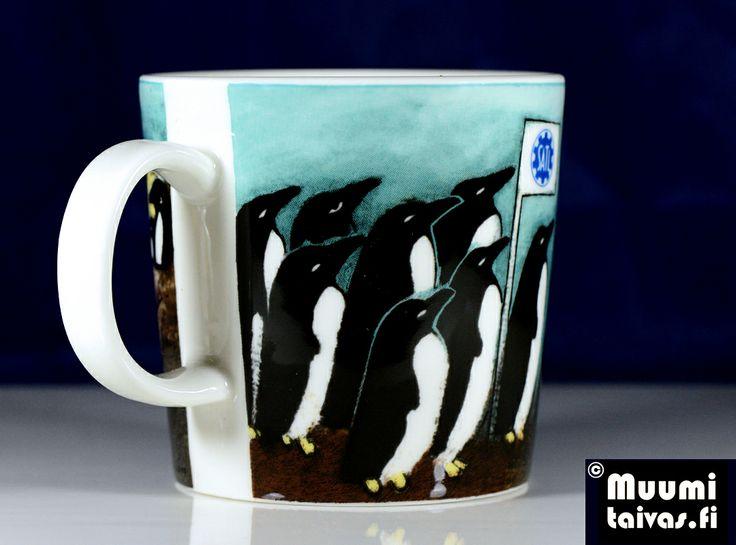 Arabia penguin mug SATL. Designer: Heljä Liukko-Sundström. Only 500 mugs were made. Type: Arabia Teema, 0,3 l.
