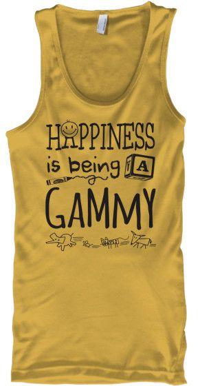 HAPPINESS IS BEING A GAMMY DARK PRINT - Tank Top