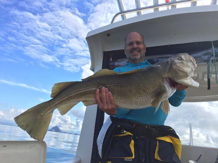 13 kg torsk i famnen