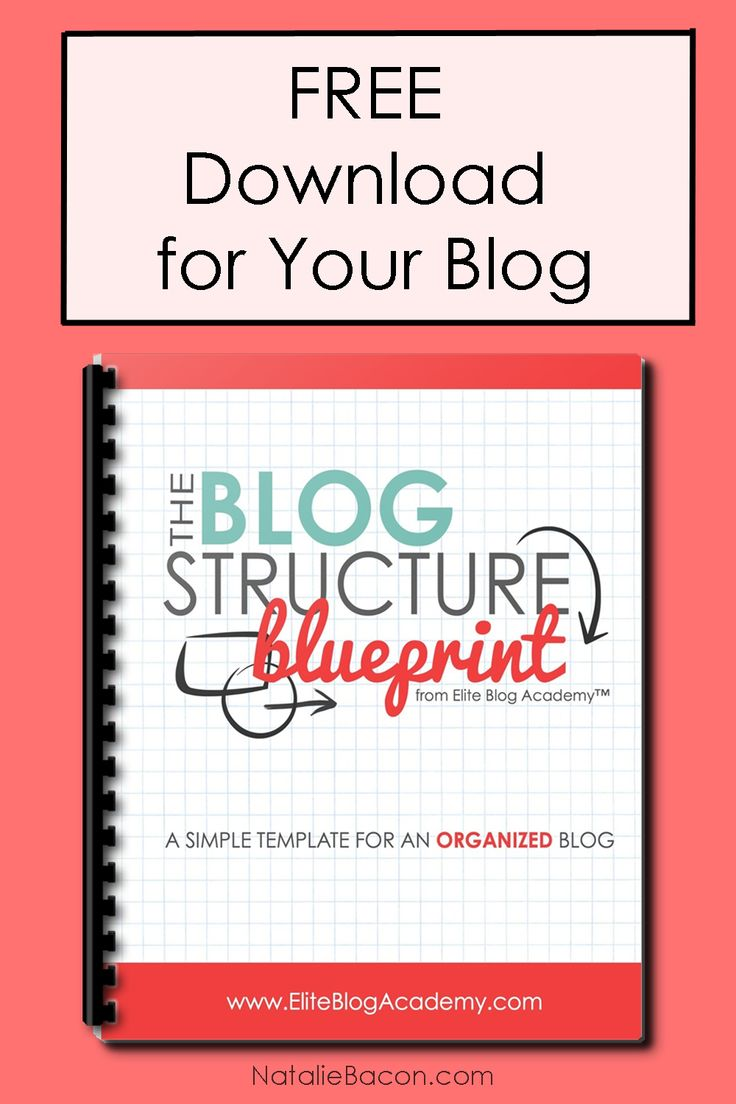 Free download for your blog! It's the Elite Blog Academy's Blog Structure Blueprint that helps you organize your blog! | NatalieBacon.com