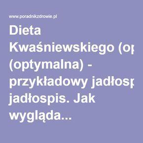 Dieta Kwaśniewskiego (optymalna) - przykładowy jadłospis. Jak wygląda...