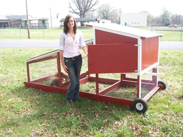 Mobile Chicken Coop All Things Chicken Pinterest
