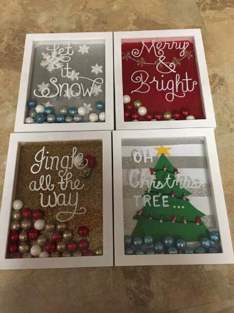 Holiday Décor - Seasonal Shadow Boxes
