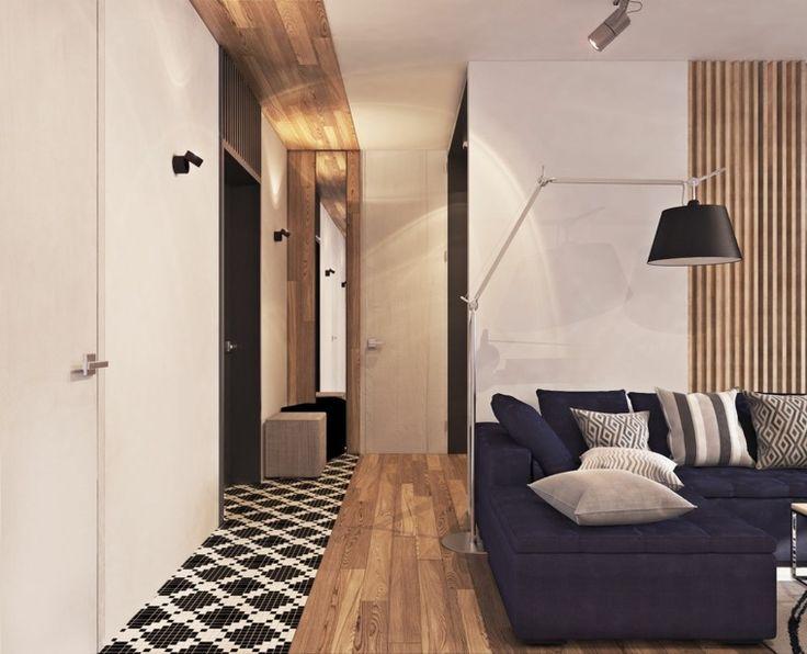 déco de salon design avec du lambris mural