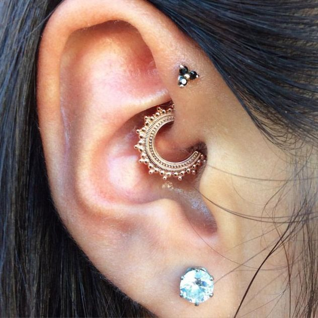 Daith Piercing is basically the perforation of the small fold of cartilage above the ear canal. A very unique type of ear piercing, and can only be done if you have a well-developed innermost carti…