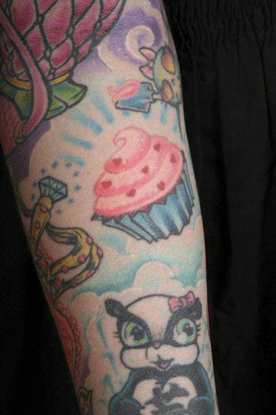 Cooking-related tattoos: cupcake