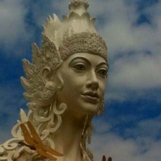 Saraswati: goddess of knowledge, music, arts & science. Bali, Indonesia 2012  photo by: Karen Snizik Alvarez