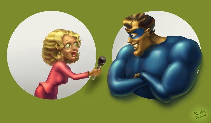 series of superheroes by Ekaterina-Frolova