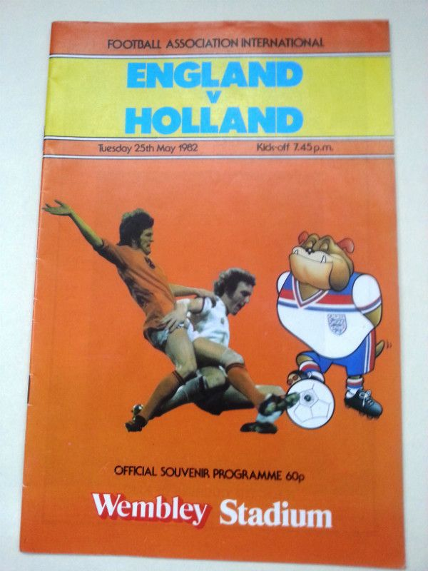 England v Holland FA International Football Programme 25/05/1982 Listing in the Other,International Fixtures,Football (Soccer),Sports Programmes,Sport Memorabilia & Cards Category on eBid United Kingdom