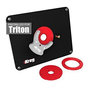 Kreg Precision Router Table Insert Plate w/ Level-Loc Rings (Predrilled for Triton)
