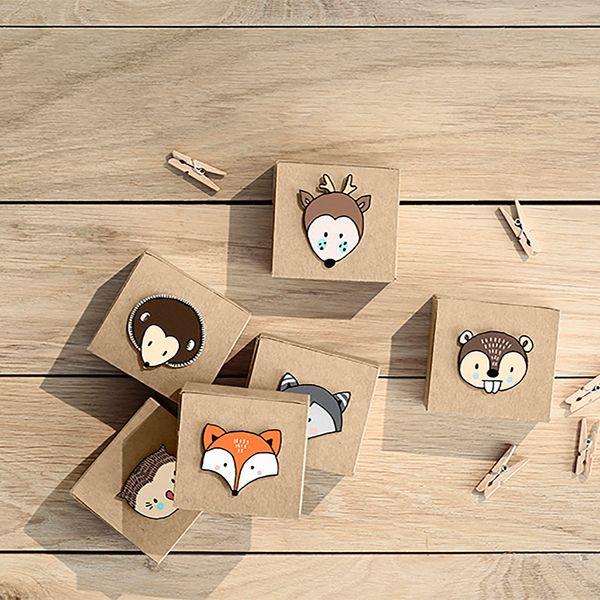 6 petites boîtes à cadeaux - Forêt