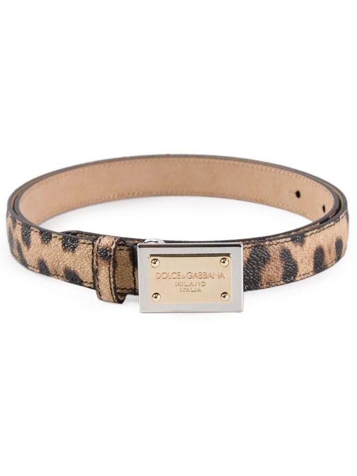 Dolce & Gabbana Ремень С Леопардовым Принтом - Biedermann En Vogue - Farfetch.com