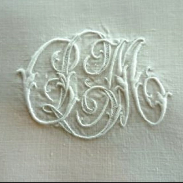 221 Best Hand Embroidered Monograms Images On Pinterest Embroidery